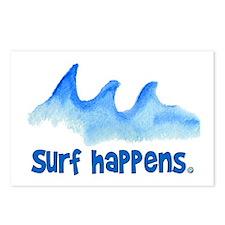 SURF HAPPENS.. Postcards (Package of 8)