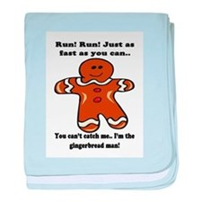 GINGERBREAD MAN! baby blanket
