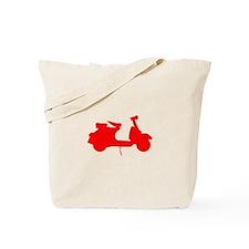 Red Vespa Sillouette Tote Bag