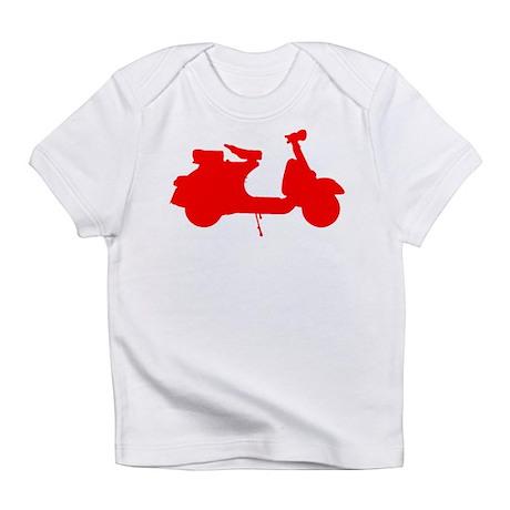 Red Vespa Sillouette Infant T-Shirt