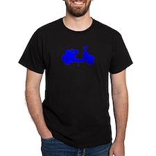 Blue Vespa Sillouette T-Shirt