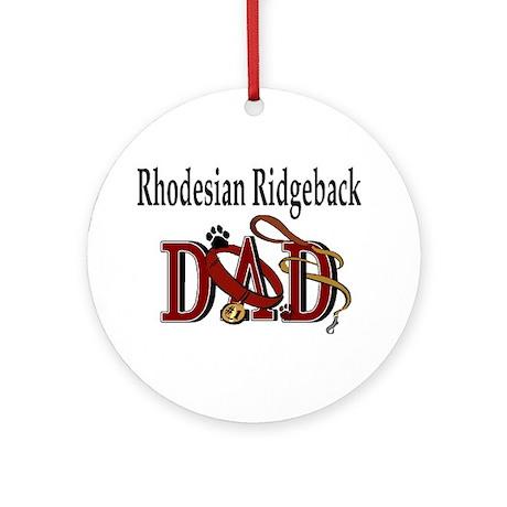 Rhodesian Ridgeback Dad Ornament (Round)