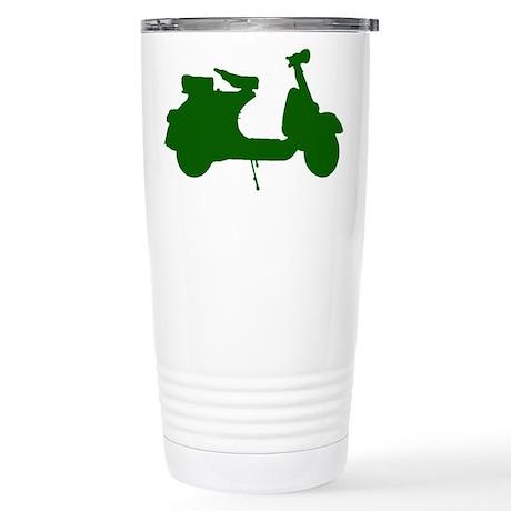 Green Vespa Sillouette Stainless Steel Travel Mug