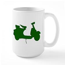 Green Vespa Sillouette Mug