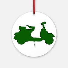 Green Vespa Sillouette Ornament (Round)