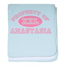Property of Anastasia baby blanket