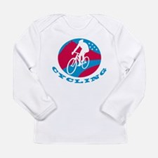 Cyclist riding racing Long Sleeve Infant T-Shirt