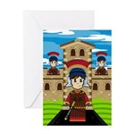 Roman Soldiers at Fort Greeting Card