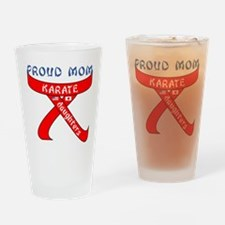 Proud Karate Mom Daughters Drinking Glass