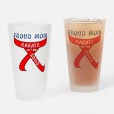 Proud Karate Mom Sons Drinking Glass