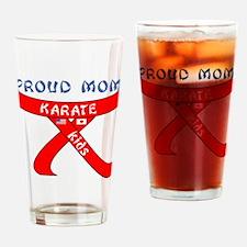 Proud Mom Karate Kids Drinking Glass