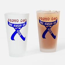 TKD Dad Kid Drinking Glass