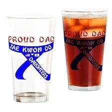 TKD Dad Daughters Drinking Glass