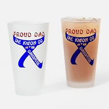 TKD Dad Daughter Drinking Glass