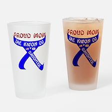 TKD Mom Daughter Drinking Glass