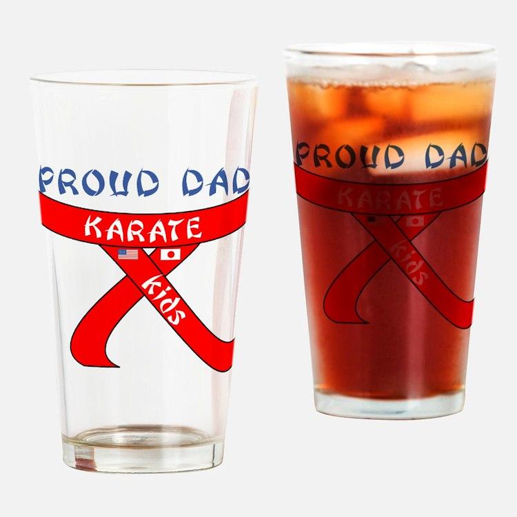 Proud Karate Dad Kids Drinking Glass