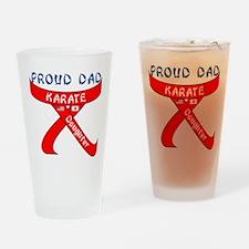 Proud Karate Dad Daughter Drinking Glass