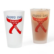 Proud Karate Dad Son Drinking Glass