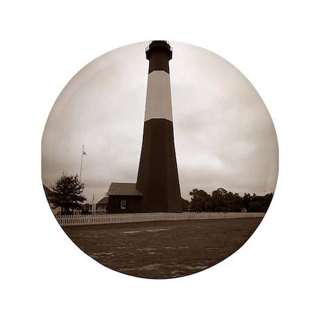 "Tybee Island lighthouse 7 3.5"" Button"