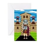 Roman Soldiers at Fort Greeting Cards (Pk of 10)
