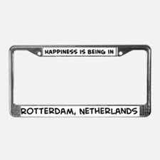 Happiness is Rotterdam License Plate Frame