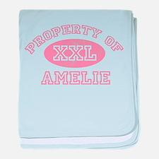 Property of Amelie baby blanket