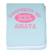 Property of Amaya baby blanket
