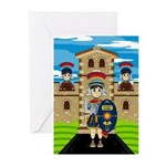Roman Soldiers at Fort Greeting Cards (Pk of 20)