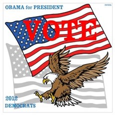 OYOOS Vote Obama 2012 design Framed Print