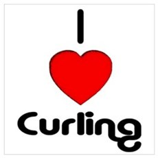I Love Curling Framed Print