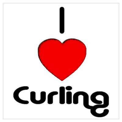 I Love Curling Poster