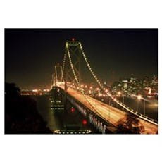 Oakland Bay Bridge Canvas Art