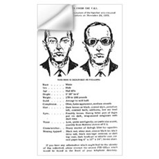 D.B. Cooper Wanted Wall Decal
