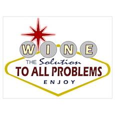 Las Vegas Wine Poster