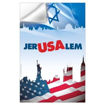 Jer-USA-lem Wall Decal