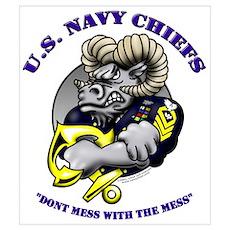 Navy CPO Ram Logo Poster