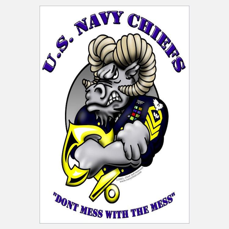 Navy CPO Ram Logo