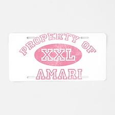 Property of Amari Aluminum License Plate