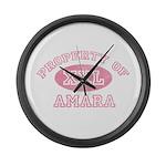 Property of Amara Large Wall Clock