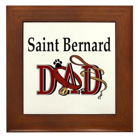 Saint Bernard Dad Framed Tile