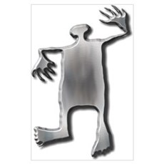 Dancing Man-stainless steel Poster