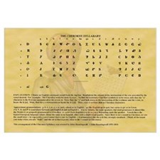 Sequoyah Cherokee Syllabary