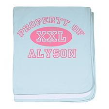 Property of Alyson baby blanket