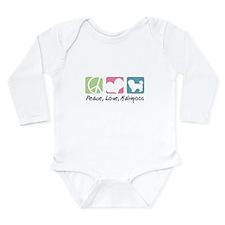 Peace, Love, Maltipoos Long Sleeve Infant Bodysuit