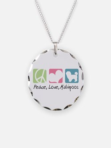 Peace, Love, Maltipoos Necklace