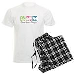 Peace, Love, Maltipoos Men's Light Pajamas