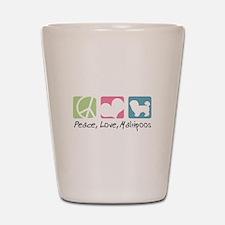 Peace, Love, Maltipoos Shot Glass