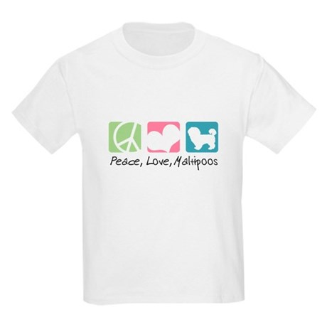 Peace, Love, Maltipoos Kids Light T-Shirt