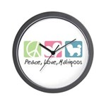 Peace, Love, Maltipoos Wall Clock