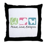 Peace, Love, Maltipoos Throw Pillow